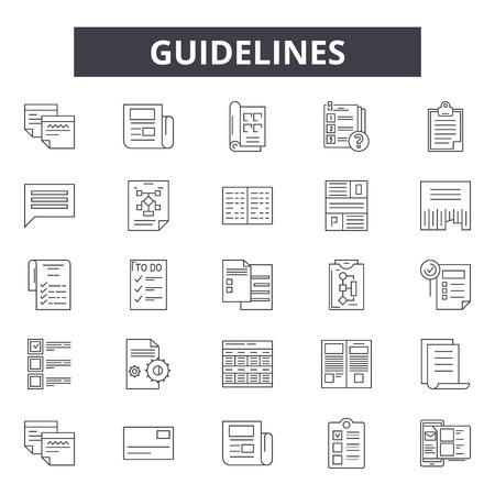 Guidelines line icons, signs, vector set, outline concept, linear illustration Illustration
