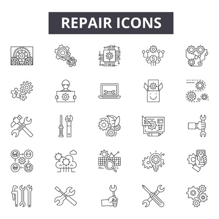 Repair line icons, signs, vector set, outline concept, linear illustration