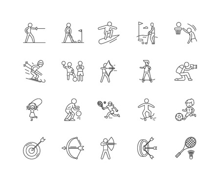 Agility line icons, linear signs, vector set, outline concept illustration 向量圖像