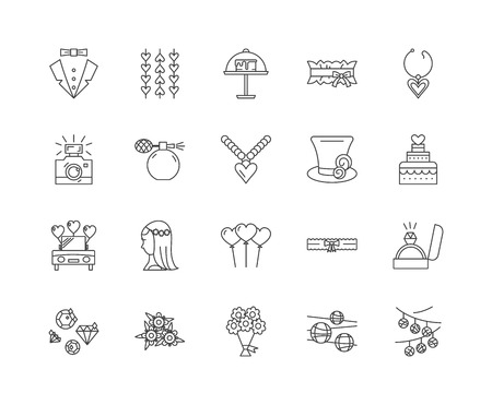 Breaking limits line icons, linear signs, vector set, outline concept illustration
