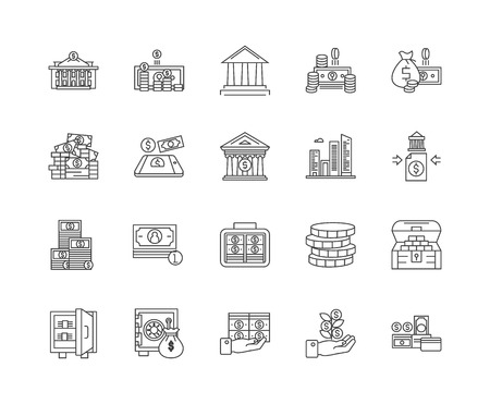 Commercial property line icons, linear signs, vector set, outline concept illustration