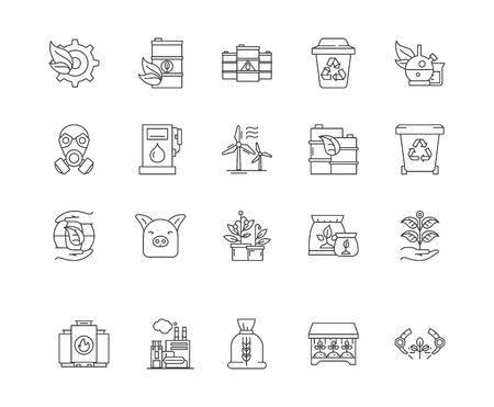 Commodity brokers line icons, linear signs, vector set, outline concept illustration