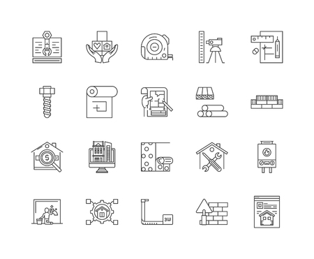Estate planning line icons, linear signs, vector set, outline concept illustration