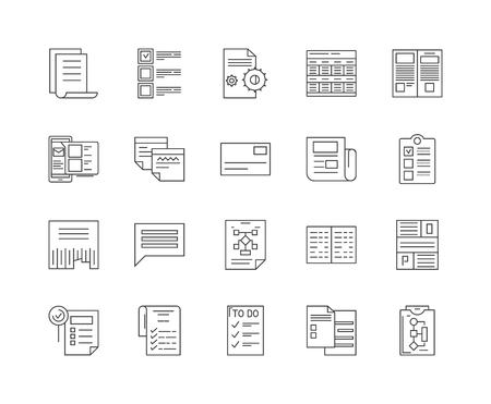 Guidelines line icons, linear signs, vector set, outline concept illustration