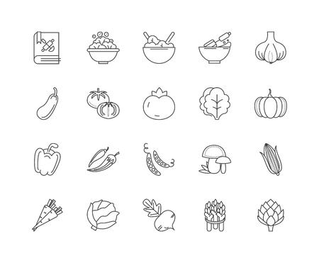 Ingredients line icons, linear signs, vector set, outline concept illustration Illustration