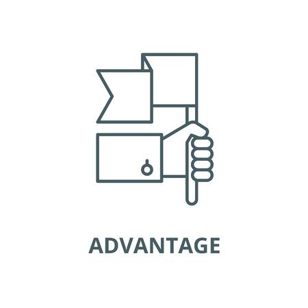 Advantage vector line icon, linear concept, outline sign, symbol Stok Fotoğraf - 123309333