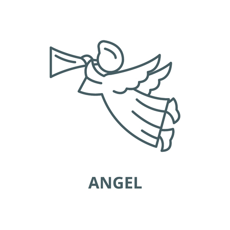 Angel vector line icon, linear concept, outline sign, symbol