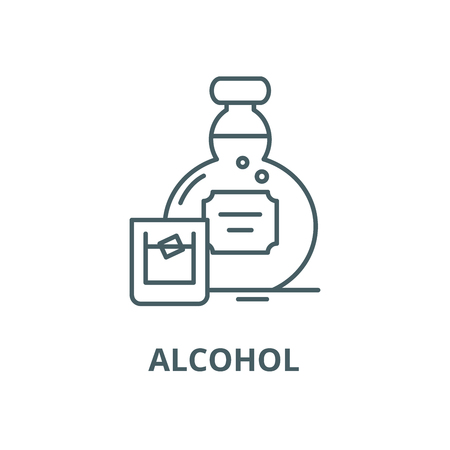 Alcohol vector line icon, linear concept, outline sign, symbol