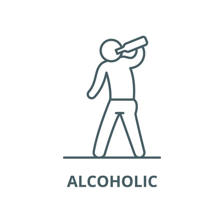 Alcoholic vector line icon, linear concept, outline sign, symbol