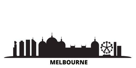 Australia, Melbourne City city skyline isolated vector illustration. Australia, Melbourne City travel cityscape with landmarks Фото со стока - 134558591
