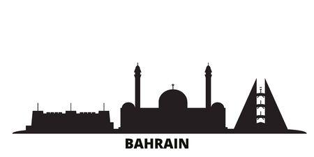 Illustration vectorielle de Bahreïn city skyline isolé. Paysage urbain de voyage de Bahreïn avec des points de repère