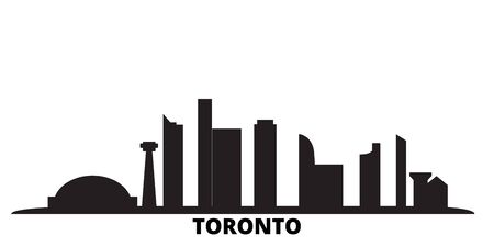 Canada, Toronto City city skyline isolated vector illustration. Canada, Toronto City travel cityscape with landmarks 일러스트