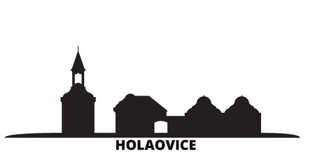 Czech Republic, Holasovice city skyline isolated vector illustration. Czech Republic, Holasovice travel cityscape with landmarks