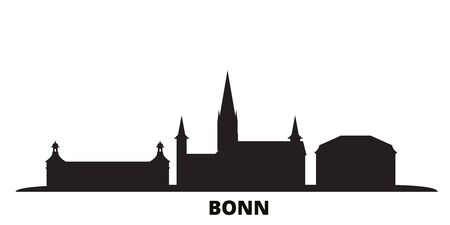 Germany, Bonn city skyline isolated vector illustration. Germany, Bonn travel cityscape with landmarks