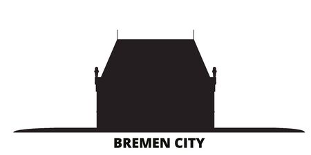Germany, Bremen City city skyline isolated vector illustration. Germany, Bremen City travel cityscape with landmarks