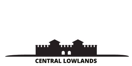 Germany, Central Lowlands city skyline isolated vector illustration. Germany, Central Lowlands travel cityscape with landmarks