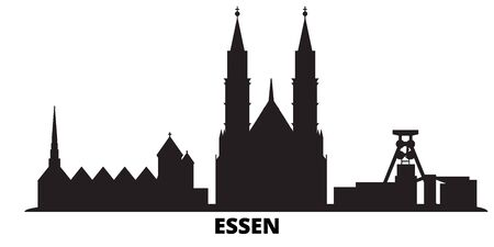 Germany, Essen city skyline isolated vector illustration. Germany, Essen travel cityscape with landmarks