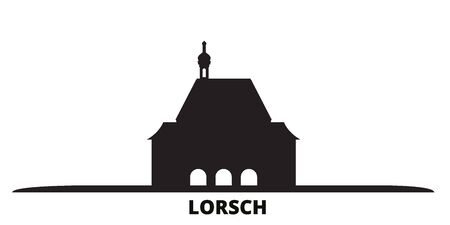 Germany, Lorsch city skyline isolated vector illustration. Germany, Lorsch travel cityscape with landmarks Illustration