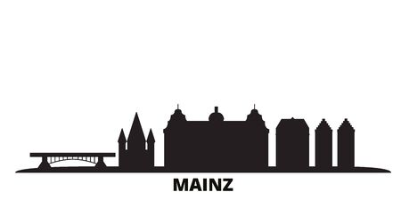 Germany, Mainz city skyline isolated vector illustration. Germany, Mainz travel cityscape with landmarks
