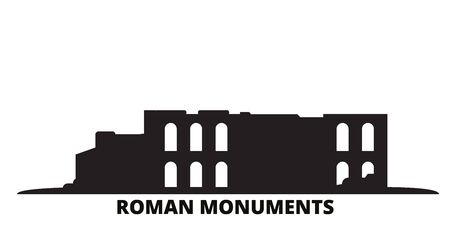 Germany, Trier, Roman Monuments, Cathedral Of St. Peter And Church Of Our Lady city skyline isolated vector illustration. Germany, Trier, Roman Monuments, Cathedral Of St. Peter And Church Of Our Lady travel cityscape with landmarks Illustration