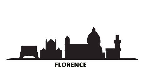 Italy, Florence City city skyline isolated vector illustration. Italy, Florence City travel cityscape with landmarks 向量圖像