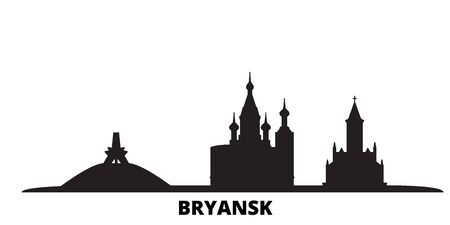 Russia, Bryansk city skyline isolated vector illustration. Russia, Bryansk travel cityscape with landmarks Ilustração