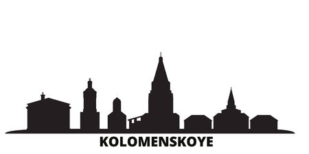 Russia, Kolomenskoye, Church Of The Ascension city skyline isolated vector illustration. Russia, Kolomenskoye, Church Of The Ascension travel cityscape with landmarks