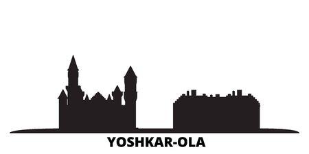 Russia, Yoshkar Ola city skyline isolated vector illustration. Russia, Yoshkar Ola travel cityscape with landmarks