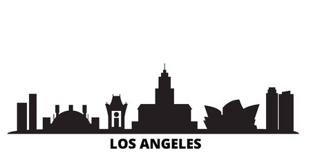United States, Los Angeles City city skyline isolated vector illustration. United States, Los Angeles City travel cityscape with landmarks
