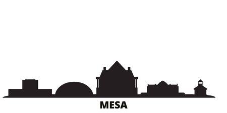 United States, Mesa city skyline isolated vector illustration. United States, Mesa travel cityscape with landmarks