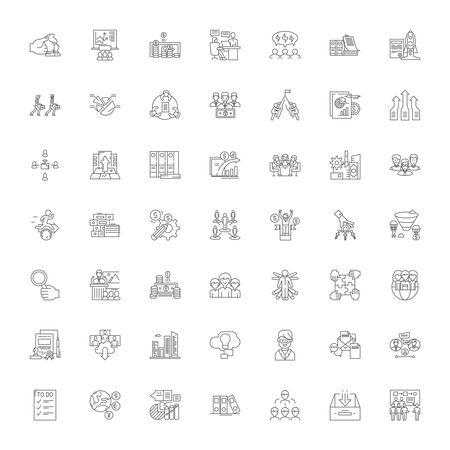 Enterprise line icons, signs, symbols vector, linear illustration set