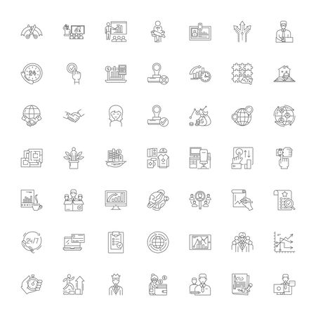 Executive director line icons, signs, symbols vector, linear illustration set Standard-Bild - 134820931