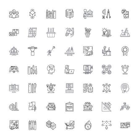 Design line icons, signs, symbols vector, linear illustration set