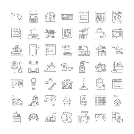 Homeware line icons, signs, symbols vector, linear illustration set