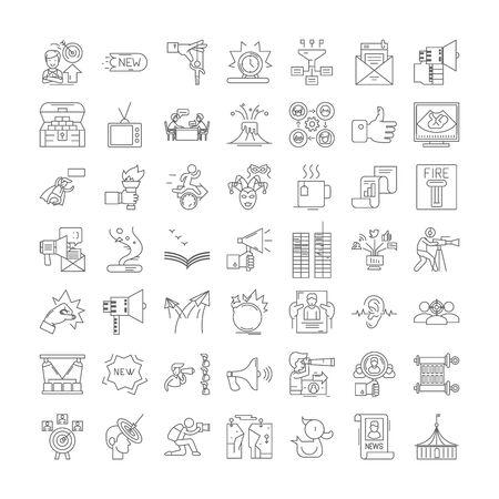 News line icons, signs, symbols vector, linear illustration set Ilustrace