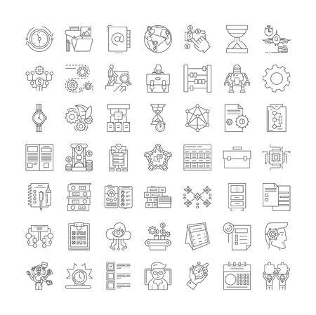 Organization line icons, signs, symbols vector, linear illustration set