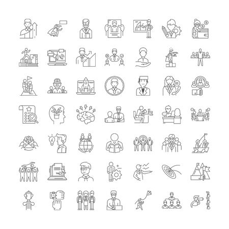 Politics and government line icons, signs, symbols vector, linear illustration set