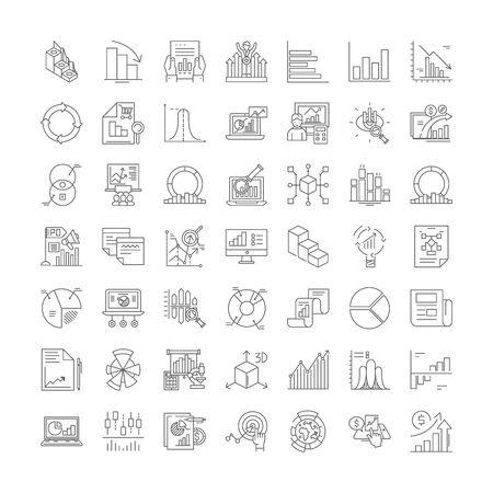 Ranking line icons, signs, symbols vector, linear illustration set