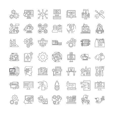 Preferences line icons, signs, symbols vector, linear illustration set