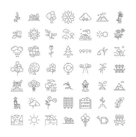 Spring holidays line icons, signs, symbols vector, linear illustration set Illustration
