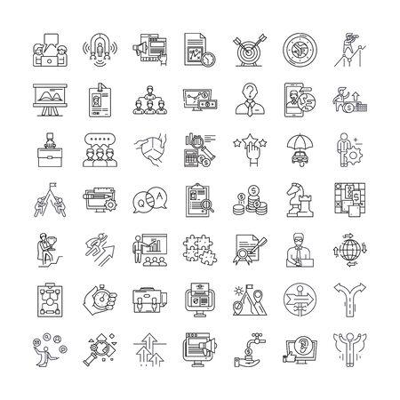 Tactics line icons, signs, symbols vector, linear illustration set