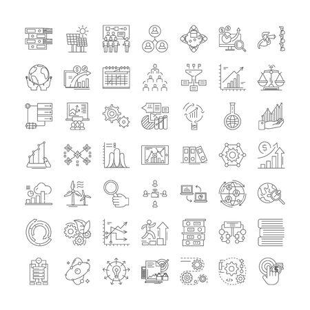 System line icons, signs, symbols vector, linear illustration set