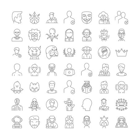 User line icons, signs, symbols vector, linear illustration set 일러스트