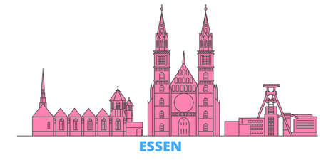 Germany, Essen cityscape line vector. Travel flat city landmark, oultine illustration, line world icons Иллюстрация