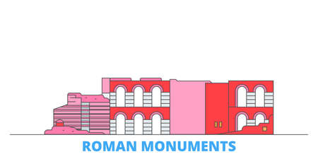 Germany, Trier, Roman Monuments, Cathedral Of St. Peter And Church Of Our Lady cityscape line vector. Travel flat city landmark, oultine illustration, line world icons Çizim