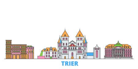 Germany, Trier cityscape line vector. Travel flat city landmark, oultine illustration, line world icons