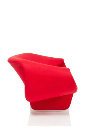 Modern style red armchair on white background Stock Photo