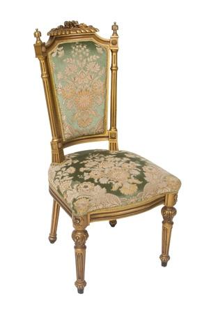 Luxury golden vintage chair on white background Stock Photo - 12899280