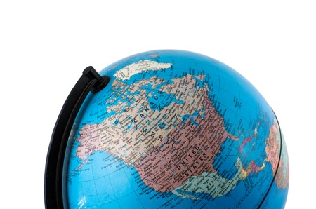 Close up globe isolate Stock Photo