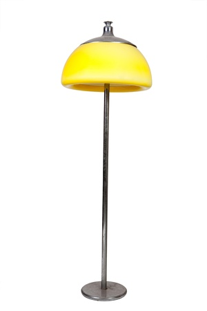 old-fashioned yellow lamp on white background Stock Photo - 12899499